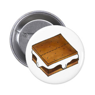 Campfire Smores Marshmallow Camp Smore Button