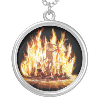 Campfire Spirit Silver Plated Necklace