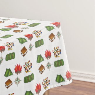 Campfire Tent Compass Sleeping Bag Summer Camp Tablecloth