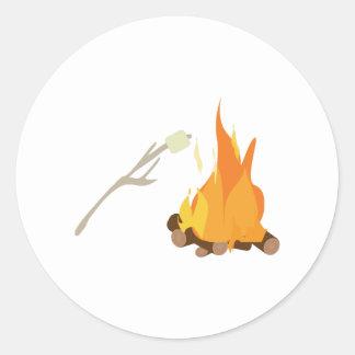 Campfire Treat Classic Round Sticker