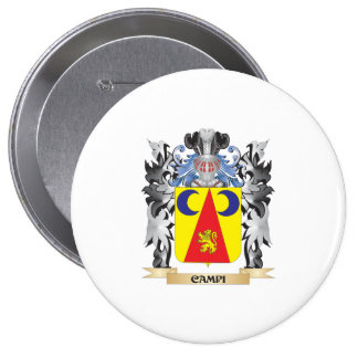 Campi Coat of Arms - Family Crest 10 Cm Round Badge