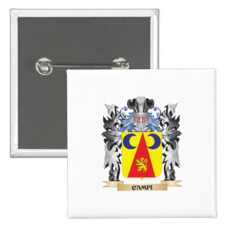 Campi Coat of Arms - Family Crest 15 Cm Square Badge