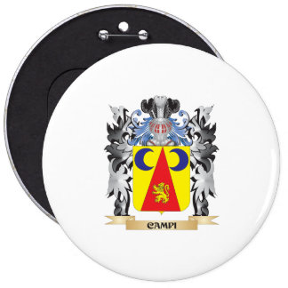 Campi Coat of Arms - Family Crest 6 Cm Round Badge