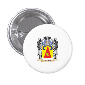 Campi Coat of Arms - Family Crest 3 Cm Round Badge