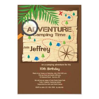Camping Adventure Invitation