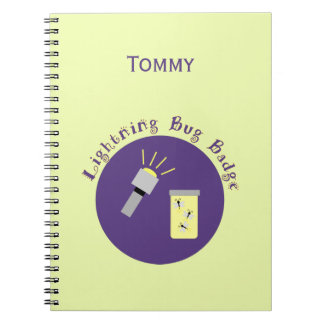 Camping Badge Lightning Bug Notebooks