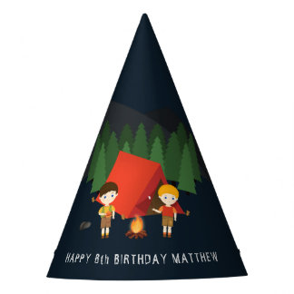 Camping Birthday Party Party Hat