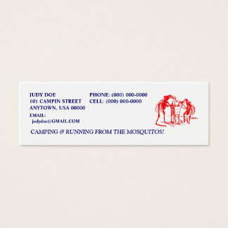 CAMPING CAMPER CAMP RED MOSQUITO CONTACT CARDS