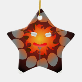 Camping Campfire Ceramic Star Decoration