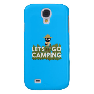 Camping Cat in Park Ranger uniform Q1Q Samsung Galaxy S4 Covers