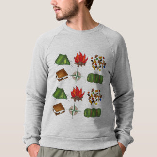 Camping Compass Tent Camp Fire S'mores Sweatshirt