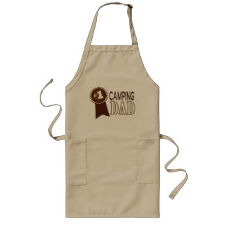 Camping Dad's Barbeque Father's Day Apron