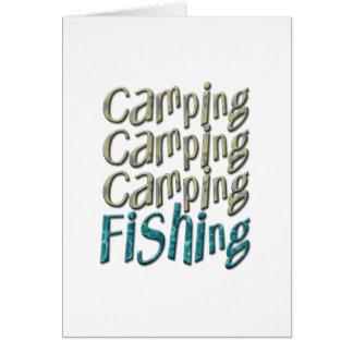 Camping Fishing Greeting Cards