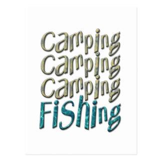 Camping Fishing Post Card