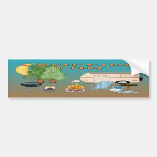 Camping Fun Bumber Sticker Car Bumper Sticker