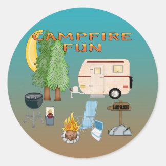 Camping Fun Envelope Seals