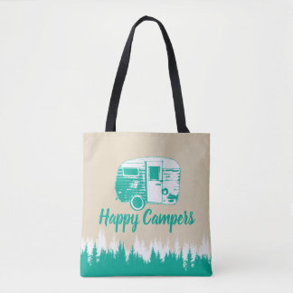 Camping Fun Happy Campers Rustic Forest Tote Bag