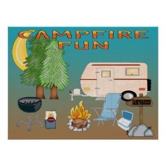 Camping Fun Poster/Print Poster