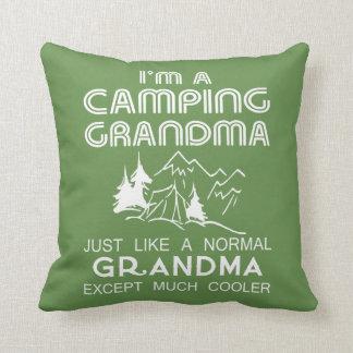 Camping Grandma Cushion