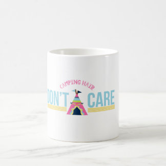 Camping Hair, Don't Care Drinking Mug