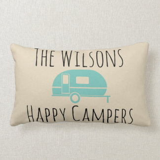 "Camping ""Happy Camper"" accent pillow"