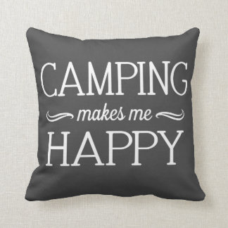 Camping Happy Pillow - Assorted Styles & Colors