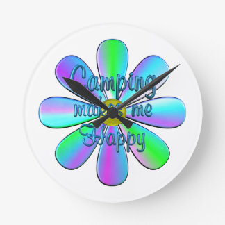 Camping Happy Wall Clock