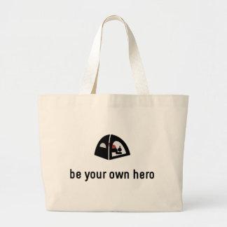 Camping Hero Jumbo Tote Bag