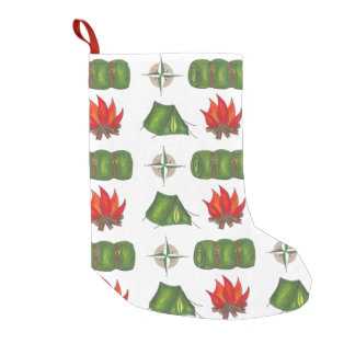 Camping Hiking Campfire Tent Christmas Stocking