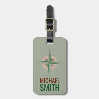 Camping Hiking Compass Personalized Luggage Tag