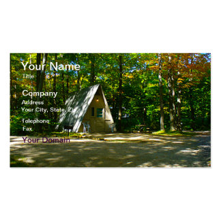 Camping in an A-Frame Cabin Business Card