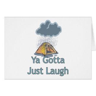 Camping in the Rain Card