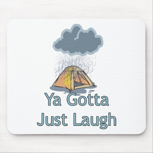 Camping in the Rain Mouse Mats