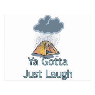 Camping in the Rain Postcard