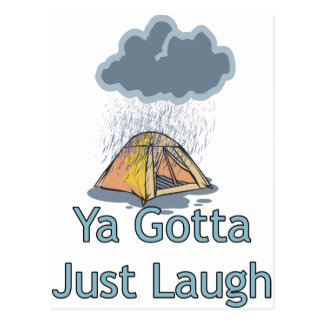 Camping in the Rain Postcards
