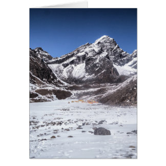 Camping in the Snowy Mountains (Himalayas) Greeting Card