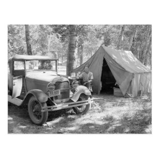 Camping in the Yakima Valley, 1936 Postcard
