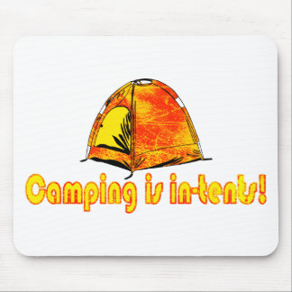 Camping is in-tents Mouse Pad
