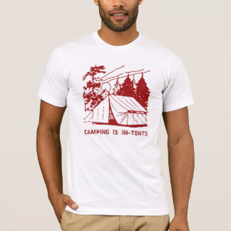 Camping is In-Tents Scene, Red T-Shirt