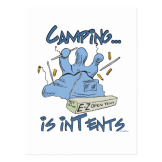 Camping is Intents Postcards