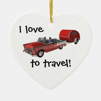 Camping Is My Life Ceramic Heart Decoration
