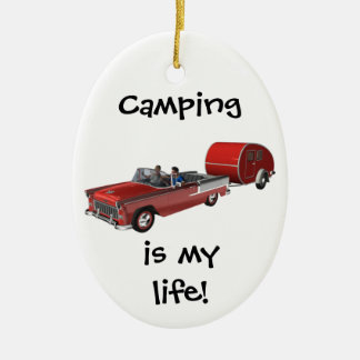 Camping Is My Life Ceramic Oval Decoration