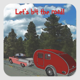Camping Is My Life Square Sticker