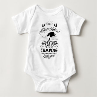 Camping Kinda Girl Baby Bodysuit