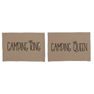 """""""Camping King and Queen"""" Pillowcase"""