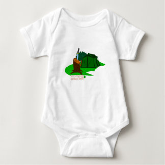 Camping knife and tent baby bodysuit