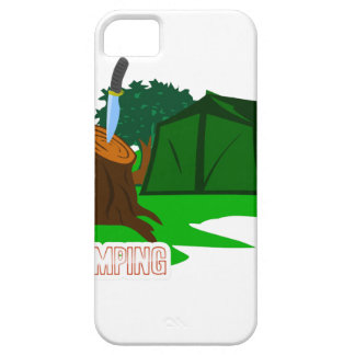 Camping knife and tent case for the iPhone 5