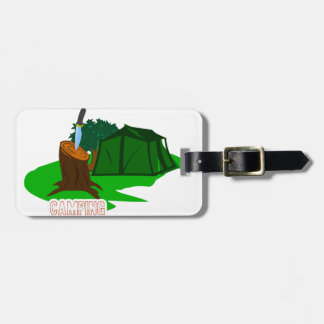 Camping knife and tent luggage tag
