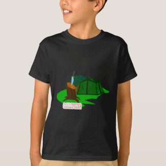 Camping knife and tent T-Shirt