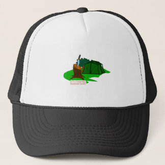 Camping knife and tent trucker hat